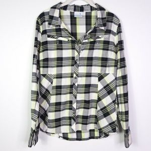 Columbia Women's Plaid Flannel Tops Button Down